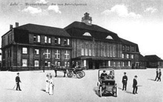Bahnhof Lehe, 1914